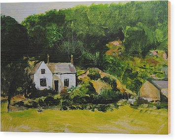 Wood Print featuring the painting Cottage In Wales by Harry Robertson