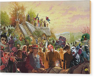 Cottage Of The Living Dead Wood Print by Barry Kite