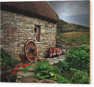 Cottage On The Moor Wood Print