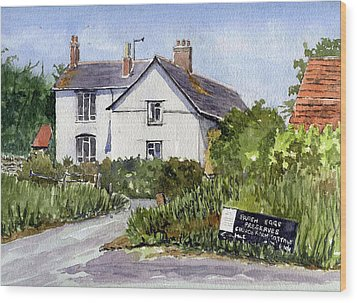 Cottages At Binsey. Nr Oxford Wood Print by Mike Lester