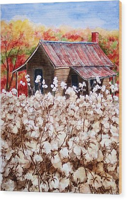 Cotton Barn Wood Print