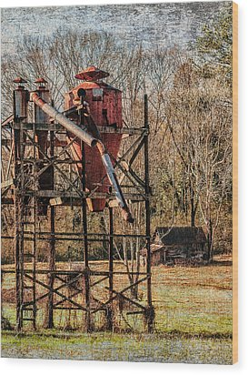 Cotton Gin In Vincent Alabama Wood Print by Phillip Burrow
