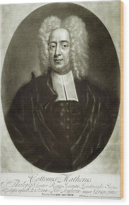 Cotton Mather 1663-1728 Wood Print by Granger