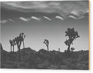 Wood Print featuring the photograph Cotton Sky On Joshua Trees by Joseph Westrupp