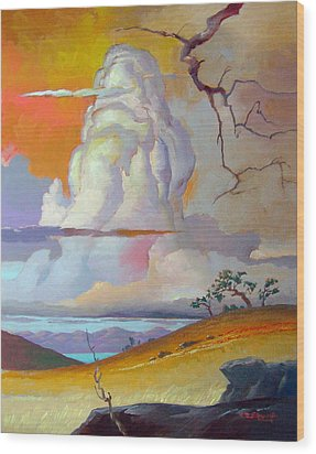 Cottonwood Clouds 3 Wood Print