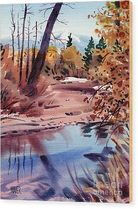Cottonwoods In October Wood Print by Donald Maier