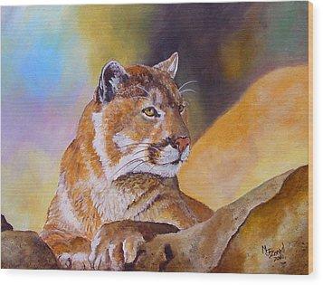 Cougar Wildlife Wood Print