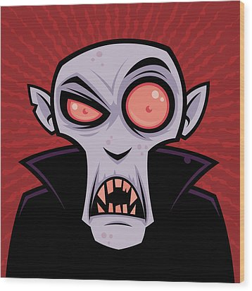 Count Dracula Wood Print by John Schwegel