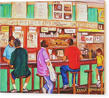 Wood Print featuring the painting Counter Culture by Carole Spandau