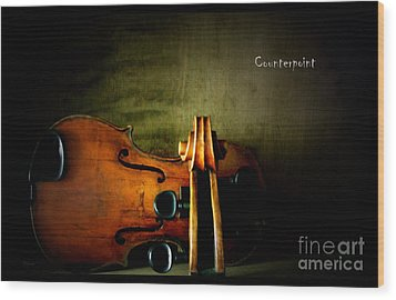 Counterpoint Wood Print by Steven Digman