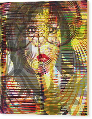 Counting Her Blessings Wood Print by Fania Simon