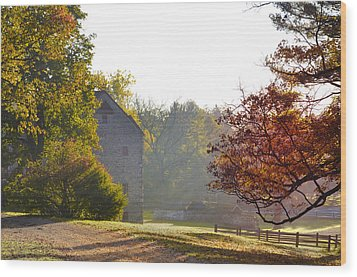 Country Autumn Wood Print by Bill Cannon