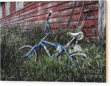 Wood Print featuring the photograph Country Bicycle by Brad Allen Fine Art