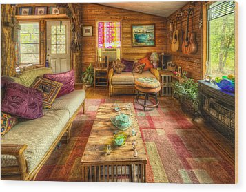 Country Cabin Wood Print