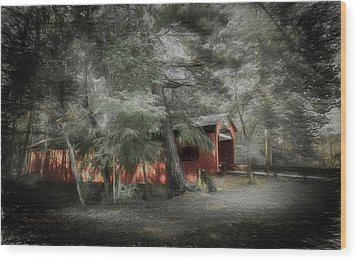 Wood Print featuring the photograph Country Crossing by Marvin Spates