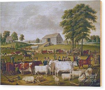 Country Fair, 1824 Wood Print by Granger