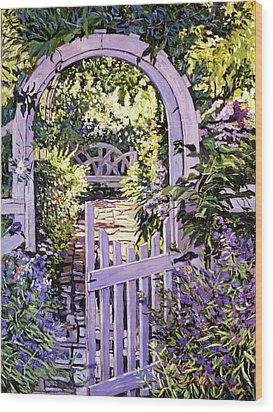 Country Garden Gate Wood Print by David Lloyd Glover