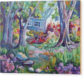Country Garden Wood Print by Saga Sabin