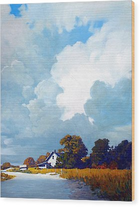 Country Home Wood Print by Kevin Lawrence Leveque