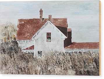 Country Home Wood Print by Monte Toon