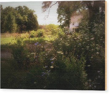 Country House Wood Print by Cynthia Lassiter