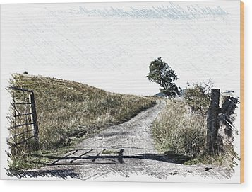 Country Lane Wood Print by RKAB Works