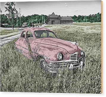 Country Life Wood Print by Ericamaxine Price