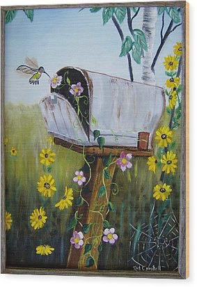 Country Mailbox Wood Print