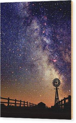 Country Milky Way Wood Print