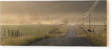 Wood Print featuring the photograph Country Mornings by Al Swasey