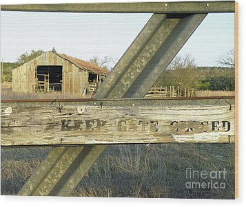 Wood Print featuring the photograph Country Quiet by Joe Jake Pratt