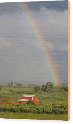 Country Rainbow Wood Print by James BO  Insogna