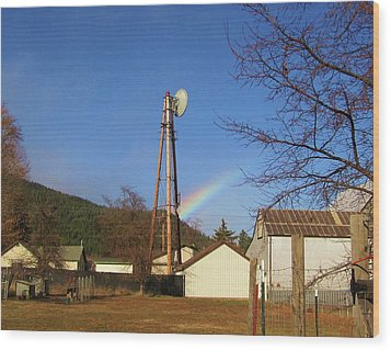 Wood Print featuring the photograph Country Rainbow by Mary Ellen Frazee