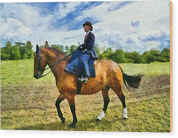 Wood Print featuring the photograph Country Ride by Scott Carruthers