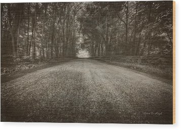 Country Road Wood Print by Everet Regal