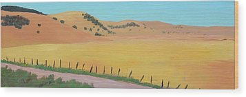 Country Road Wood Print by Gary Coleman