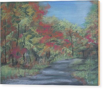 Country Road II Wood Print by Pete Maier