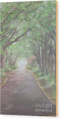 Wood Print featuring the painting Country Road by Lucia Grilletto