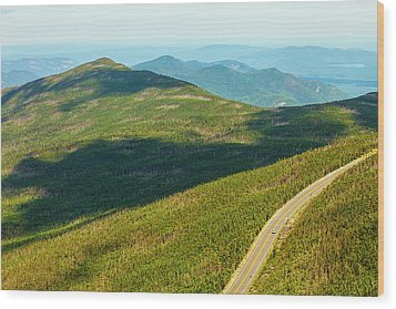 Wood Print featuring the photograph Country Road To My Home Whiteface Mountain New York by Paul Ge