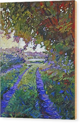 Country Roads Provence Wood Print by David Lloyd Glover