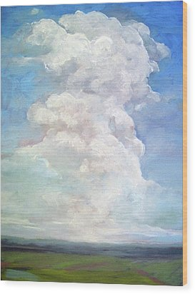 Wood Print featuring the painting Country Sky - Painting by Linda Apple
