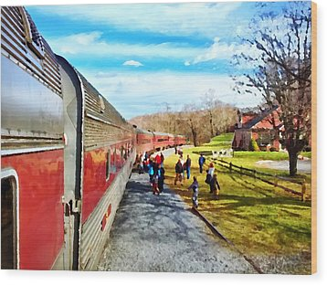 Country Train Depot Wood Print