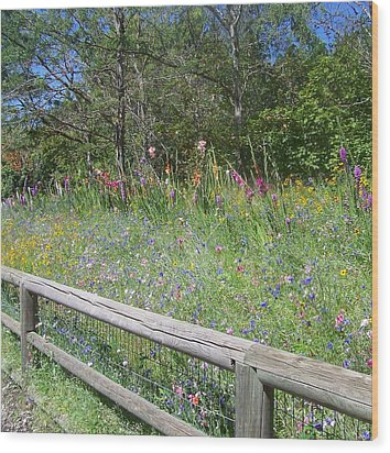 Country Wildflowers Wood Print