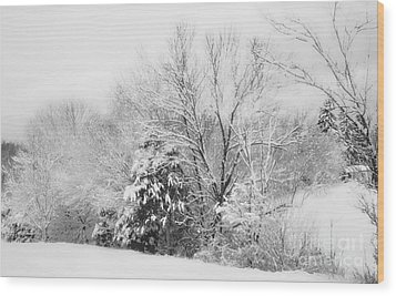 Country Winter Wood Print by Kathy Jennings
