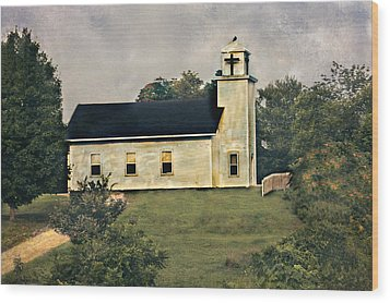 County Chruch Wood Print
