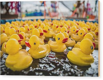 County Fair Rubber Duckies Wood Print by Todd Klassy