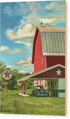 County G Classic Station Wood Print by Trey Foerster