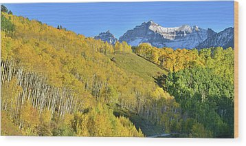 Wood Print featuring the photograph County Road 7 Fall Colors by Ray Mathis