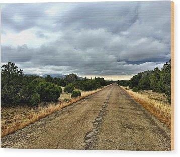 County Road Wood Print