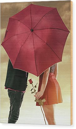 Wood Print featuring the photograph Couple Of Sweethearts by Carlos Caetano